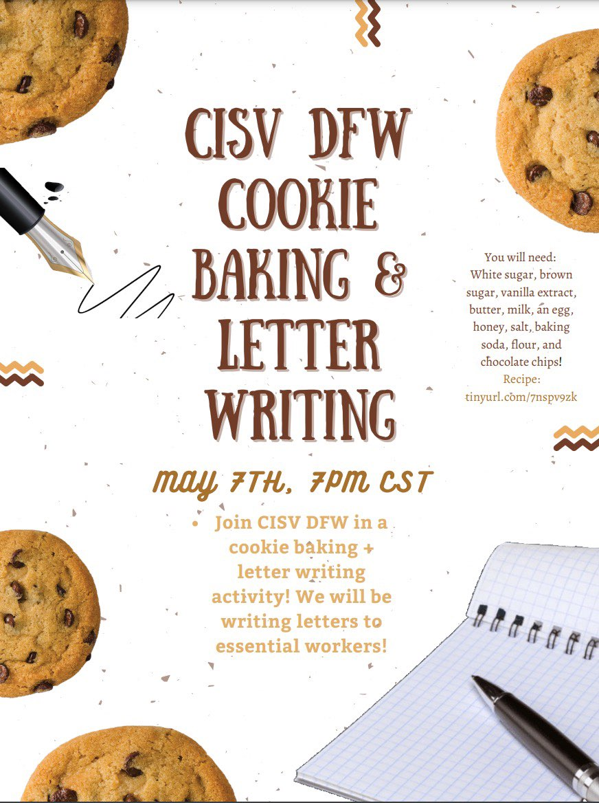 Cookie Bake and Letter Writing